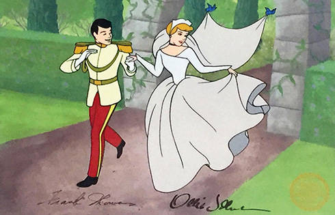 Cinderella And Price Charming Sericel (Signed)