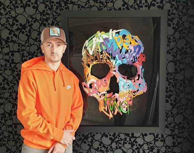 Dan Lane pictured with his new In The Empty Spaces collection