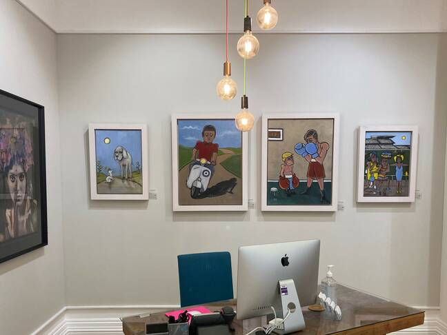 Stephen Roby's figurative original oil paintings on display at our Liverpool gallery