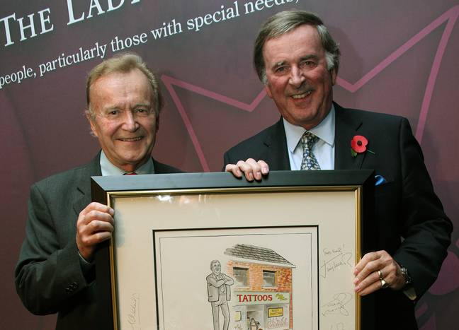 Photo   Mac and Sir Terry Wogan at The Lady Taverners Tribute Lunch, 5 November 2010