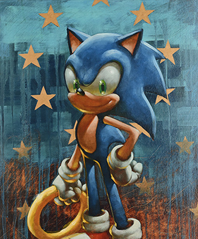 Sega Collection Celebrates 25 Years Of Sonic The Hedgehog Castle Fine Art