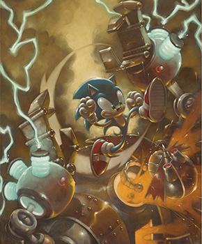 Sega Collection Celebrates 25 Years Of Sonic The Hedgehog Castle Fine Art
