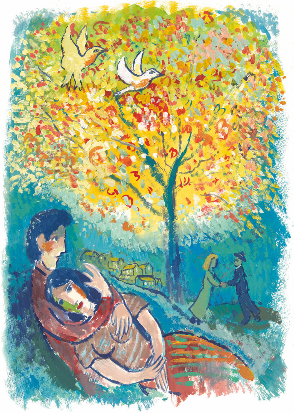 The Lovers Dream In The Style Of Marc Chagall John